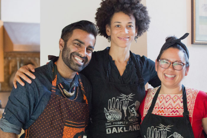 Keval, Jackson, and Bhaumik. (Photo courtesy People's Kitchen Collective)