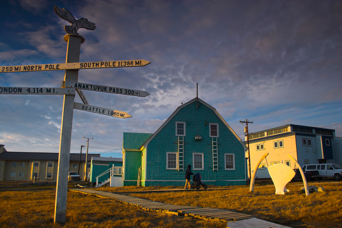 the town of Utqiagvik, Alaska