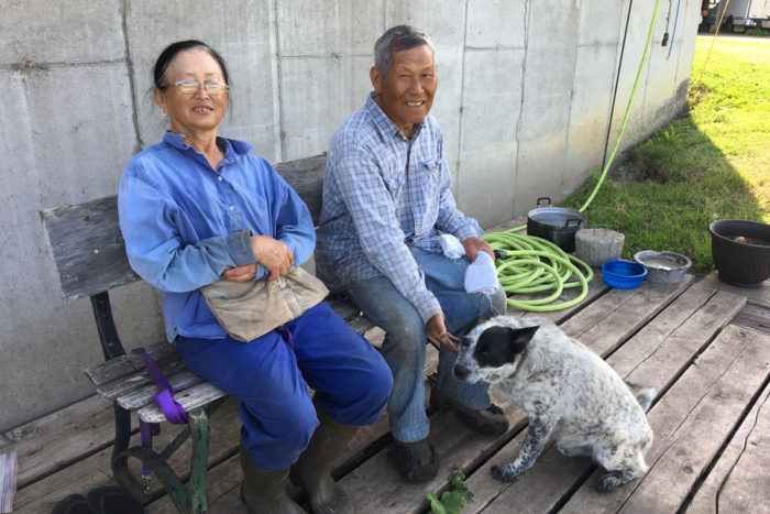 Phua (left) and Blia Thao at Thao's Garden.
