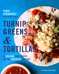 turnip greens and tortillas cover
