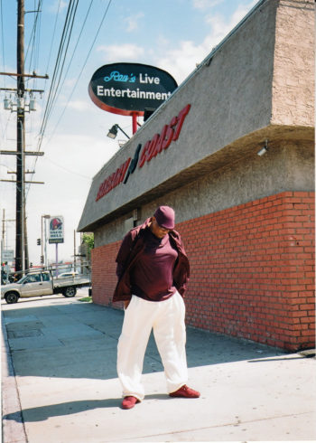 Chef Ron Freeman in his old neighborhood. (Alexis Gross/The Outline)