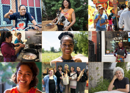 inspiring women in the food system collage