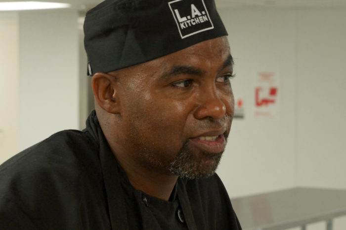Curtis Daniels at L.A. Kitchen. (Photo courtesy of KCET)
