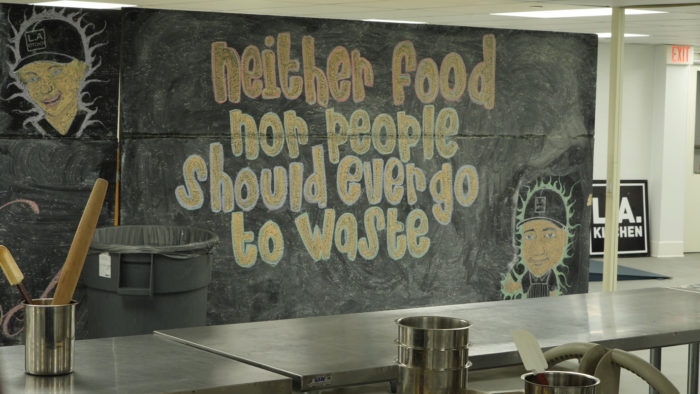 Mural: Neither food nor people should ever go to waste. (Photo courtesy of KCET.)