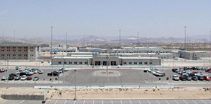 The federal prison at Victorville, California. (Photo credit: U.S. Bureau of Prisons)