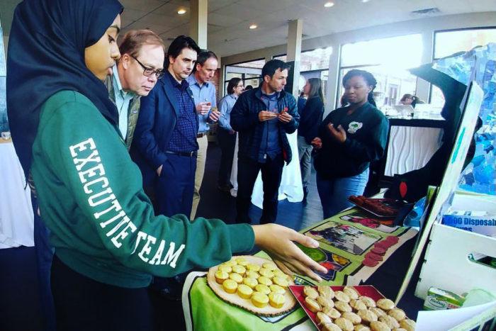 The Green Garden Bakery team presenting at the 2017 MN Cup. (Photo courtesy Green Garden Bakery)