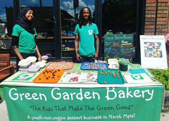 A Green Garden popup stand at the Herbivorous Butcher. (Photo courtesy of Green Garden Bakery)