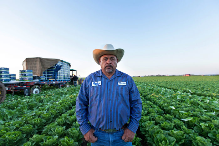Martin Vera works as a harvest supervisor. Photo © Scott Baxter.