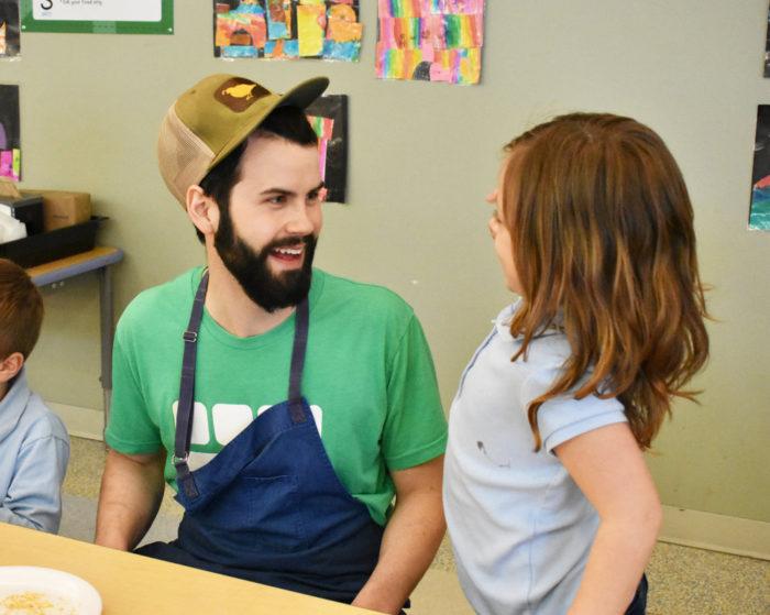 Wes Barrington, Head Chef Winthrop STEM Elementary Magnet School. (Photo courtesy of Brigaid)