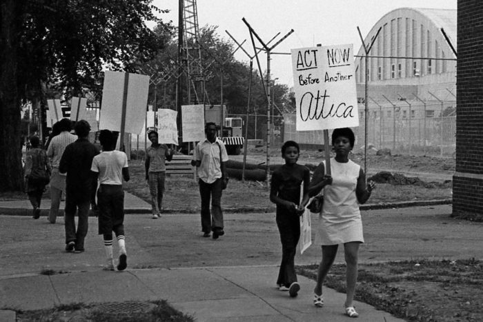"Picket Line outside of the old Washington, D.C. Jail September 8, 1973 in support of the ""October 11 Brothers"" and for better prison conditions. (Photo CC-licensed by Washington Area Spark.)"