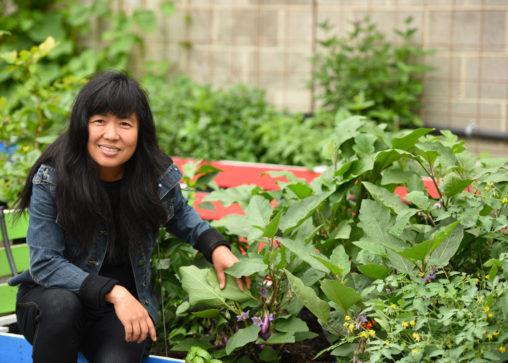 Meei Ling Ng in the UBC Garden of Eden. (Photo © Sang Cun)
