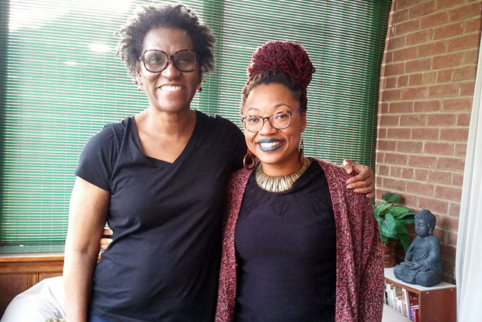 Alice Chandler's (left) lifelong experiences in Deanwood have helped inform anthropologist Ashanté Reese's (right) research on how the neighborhood's food options have evolved. (Photo credit: Barry Yeoman)