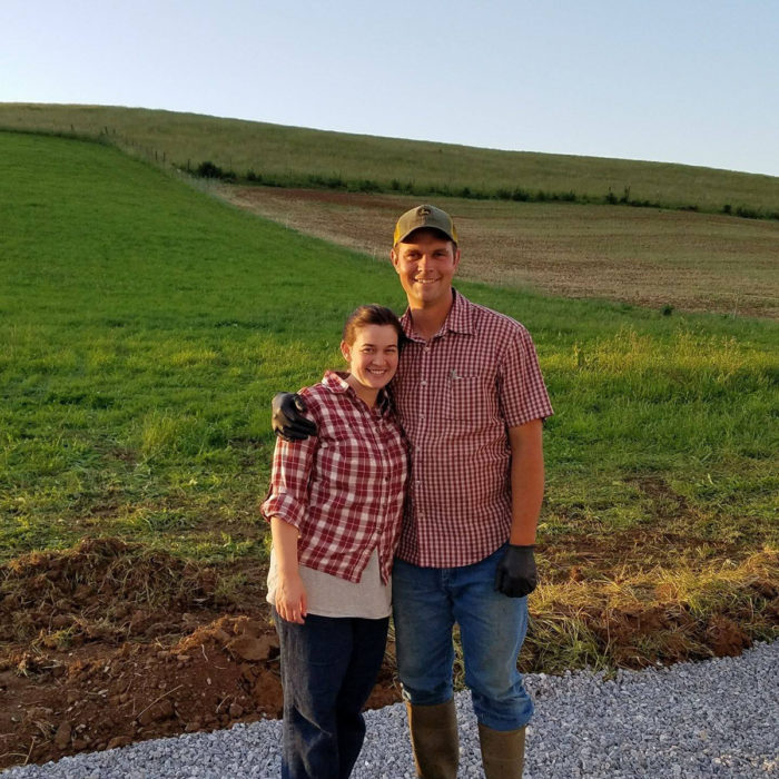 Ben and Kristen Beichler on the eve of the first milking at Creambrook Farm. (Photo courtesy of Creambrook Farm)