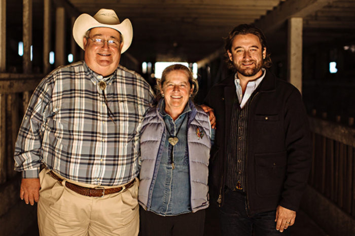 Ted Hall, Laddie Hall, and Chris Hall. (Photo courtesy of Long Meadow Ranch)