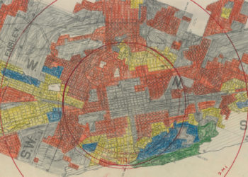 Detail of the redlined map of Birmingham, Alabama