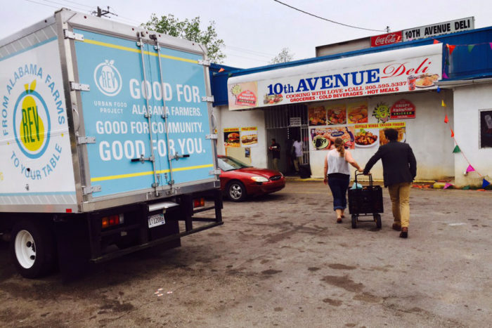 Rev Birmingham's Urban Food Project delivers produce to the 10th Avenue Deli. (Photo courtesy of RevBirmingham)