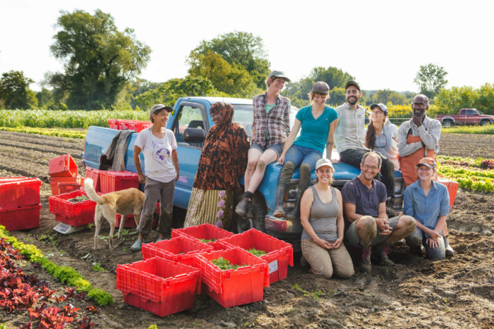 f7c5aa302 The Digger's Mirth Collective Farm team. (Photo courtesy of The Intervale  Center)