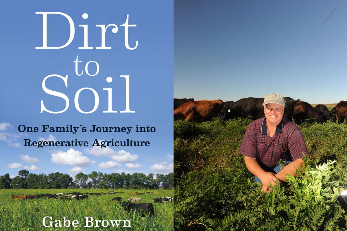 gabe brown and the dirt to soil book cover