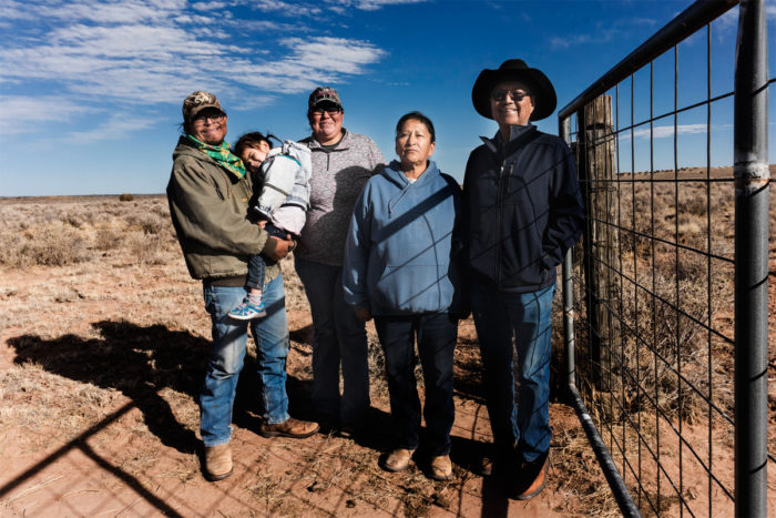 The Pahi family on the range. (Photo © Thosh Collins)