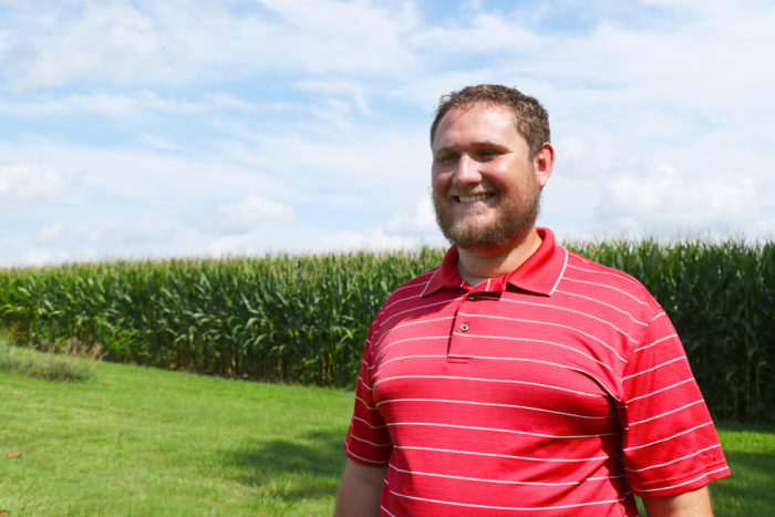 Josh Yoder, an Ohio corn and soybean farmer involved in the EDF study. (Photo courtesy of EDF)