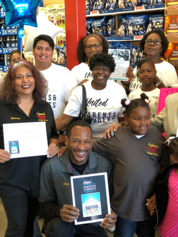 Inglewood Grocery Outlet receiving the UPAS Store of Excellence Award. (Photo courtesy of UPAS)