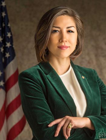 Official portrait courtesy of Paulette Jordan for Governor.