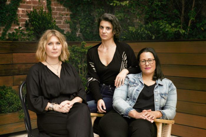 WIHU founders, from left: Liz Murray, Elizabeth Meltz, Erin Fairbanks. (Photo credit: Bridget Shevlin)