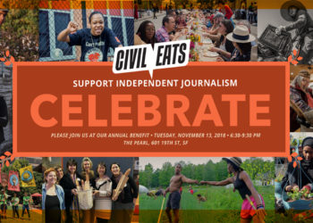civil eats celebration logo and invitation