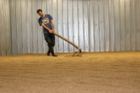 Floor-malting the wheat at Blue Ox Malthouse.