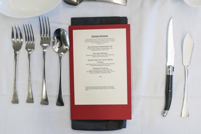The menu for Reed's capstone meal at Seattle Culinary College. Photo © Katherine Kehrli.