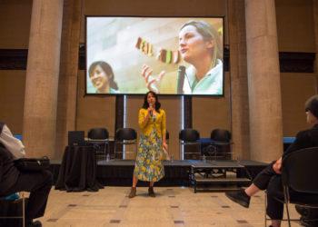 Pei-Ru Ko presents at San Francisco's Asian Art Museum. (Photo courtesy of RFRS)