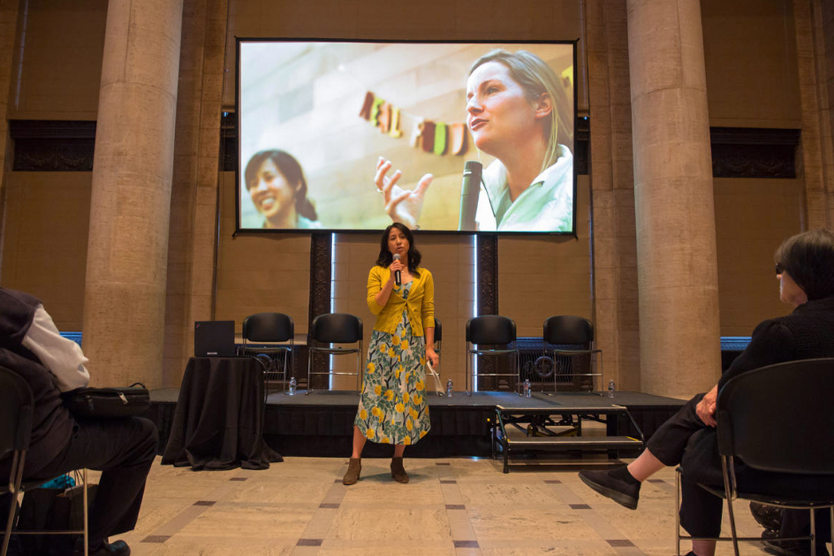 Pei-Ru Ko presents at San Francisco's Asian Art Museum. (Photo courtesy of RFRS)