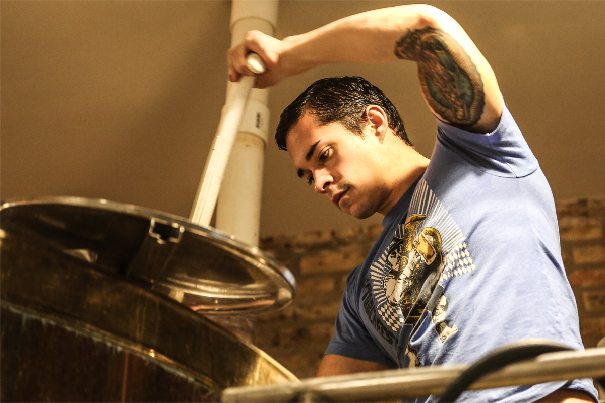Revolution Brewing brewpub brewer John Palos. (Photo credit: Revolution Brewing)