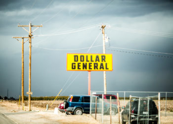 Outside a Dollar General in Fort Hancock, Texas. (Photo credit: Thomas Hawk)