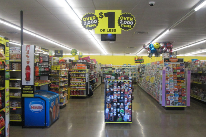 Inside a Dollar General store in Eldred, Pennsylvania. (Photo credit: Random Retail)