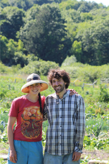 Miriam Goler and Mark Stonehill of Full Circus Farm. (Photo courtesy of the Columbia Land Conservancy)