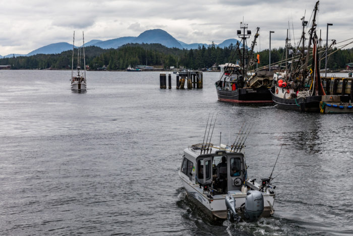 A fishing boat leaves Sitka harbor. (Photo by Michael Turner / iStock)