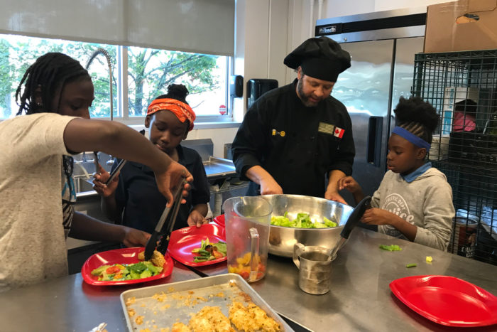 A cooking class at Flint Kids Cook. (Photo courtesy of Flint Kids Cook)