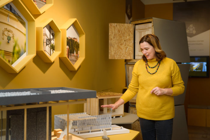 "Curator Barbara Sosić guides through the special exhibition ""Where the bees are at home"" at the Slovene Ethnographic Museum, open through August 2019."