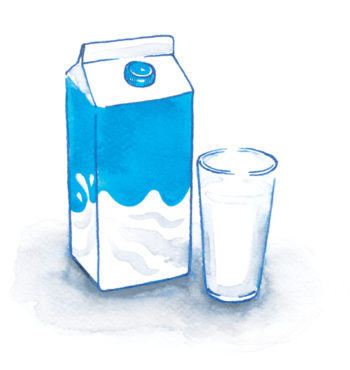 Milk illustration by Lily Qian for Edible Manhattan