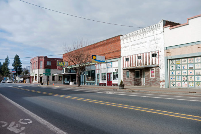 This is the small town of Moro, Oregon, in Sherman County. It is an example of a small, rural community struggling to hold onto its businesses, and its residence as America changes. (Photo credit: Gary Quay / iStock)