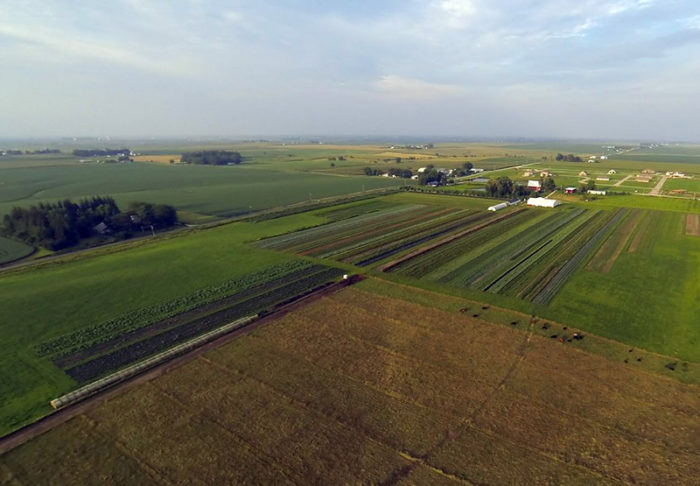 Grinnell Heritage Farm from above. (Photo courtesy of Grinnell Heritage Farm)