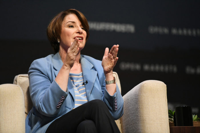 Senator Amy Klobuchar. (Photo © Damon Dahlen / HuffPost)