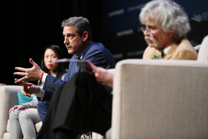 Representative Tim Ryan (center). (Photo © Damon Dahlen / HuffPost)