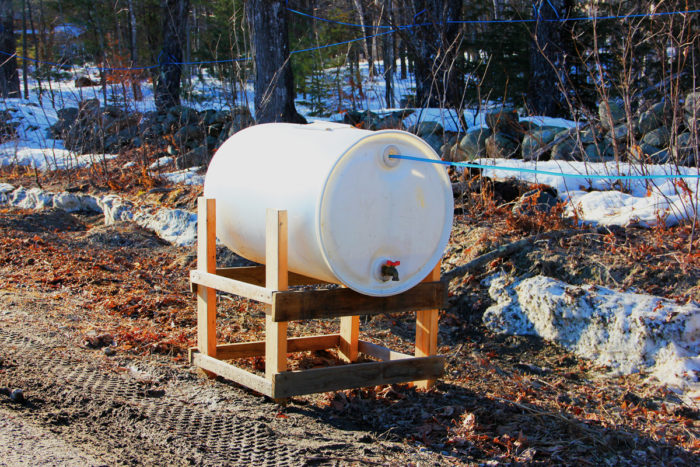 Maple sap storage container