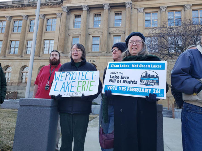 Outside Toledo City Hall. (Photo by Crystal Jankowski)