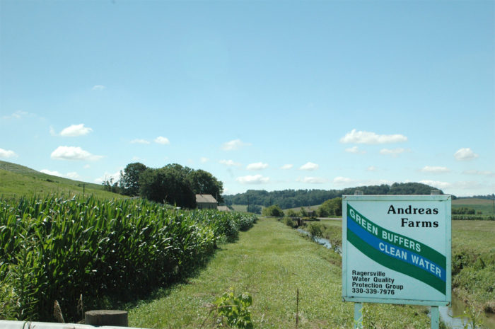 Andreas Farm in eastern Ohio installed a buffer to help improve water quality as part of a National Water Quality Initiative (NWQI) program. USDA NRCS photo.