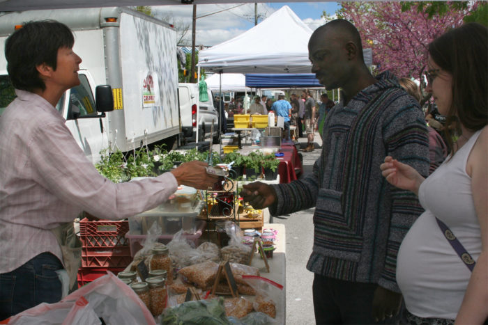 At the Takoma Park farmers' market. (Photo by Cassie Chew)