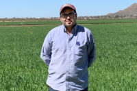 Farm manager Gabriel Vega has worked for San Xavier Co-op for 13 years. (Photo by Rudri Patel)