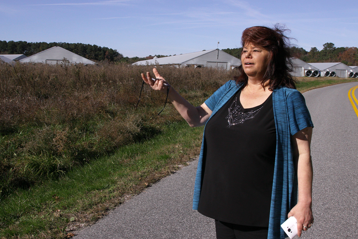 Maria Payan recalls her struggles living next to a massive broiler chicken operation.